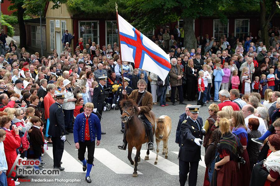 Flaga Wysp Owczych- Ólavsøka