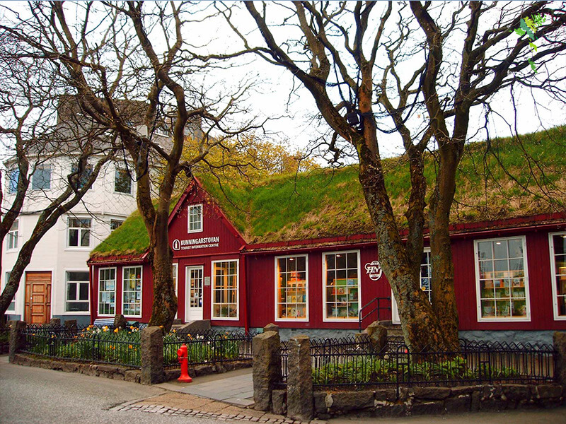 Najstarsza księgarnia w Torshavn na Wyspach Owczych - H.N. Jacobsens Bókahandil
