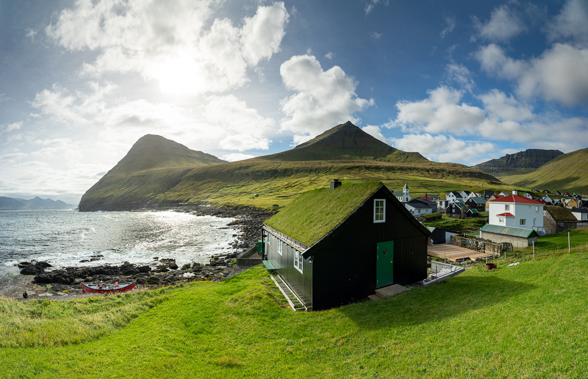 Gjógv na Wyspach Owczych widziane z północy