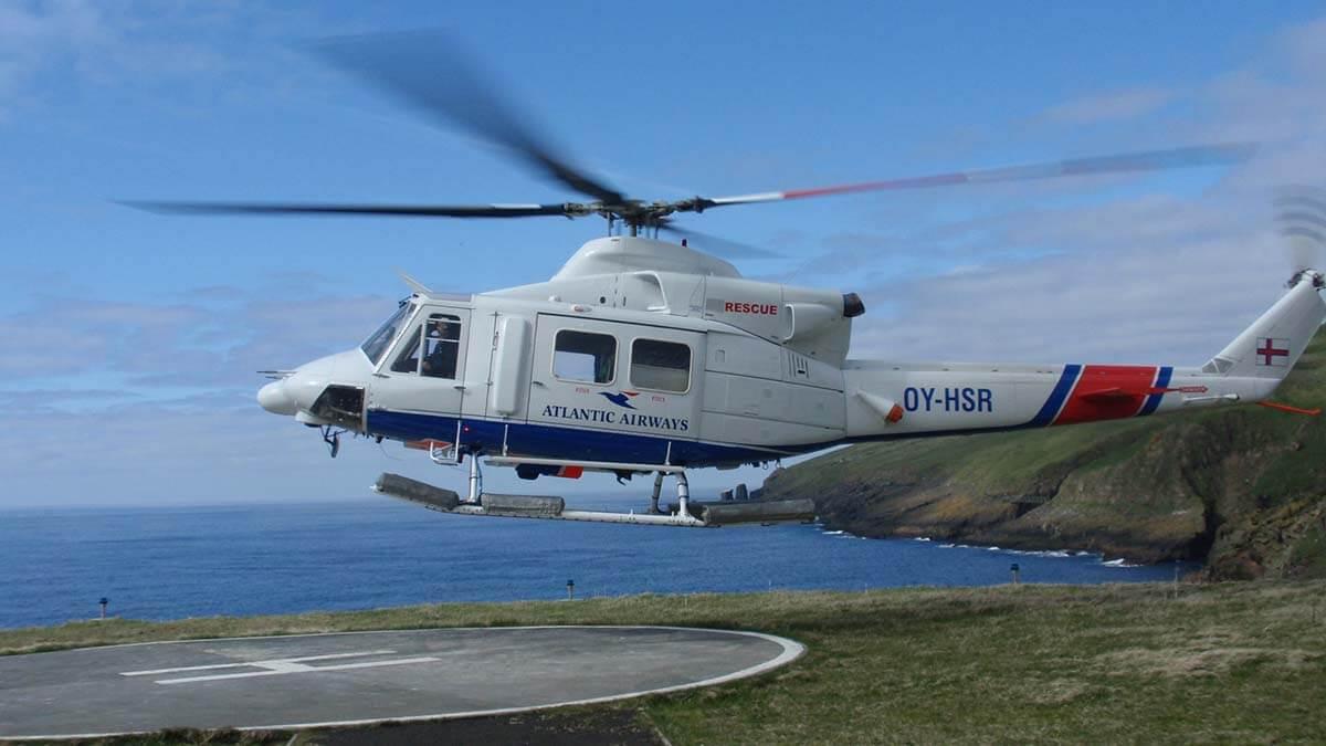 Helikopter na Mykines, Wyspy Owcze
