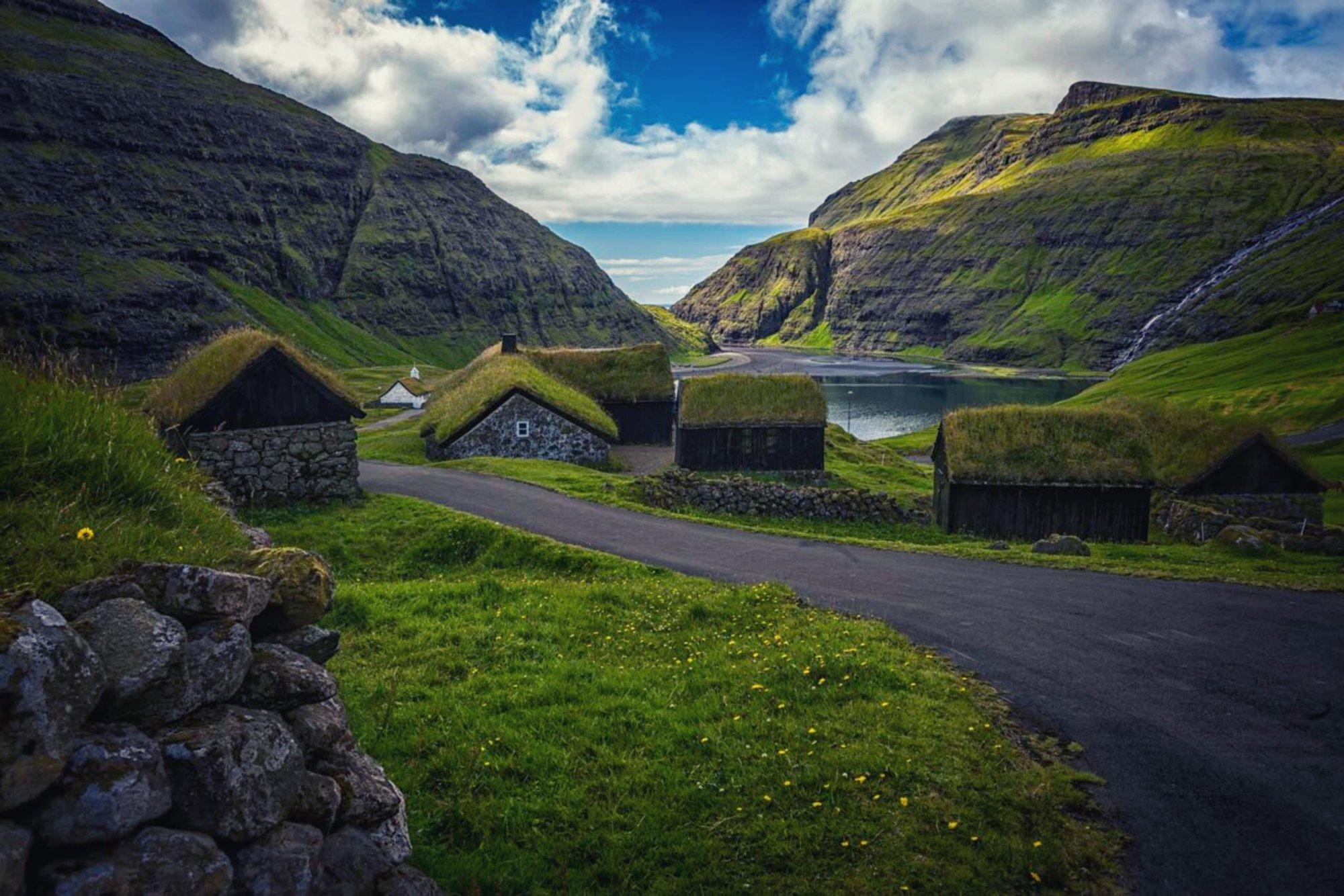 Widok na Saksun na Wyspach Owczych