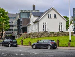 Stary Budynek Løgtingu usytuowany w Torshavn na Wyspach Owczych