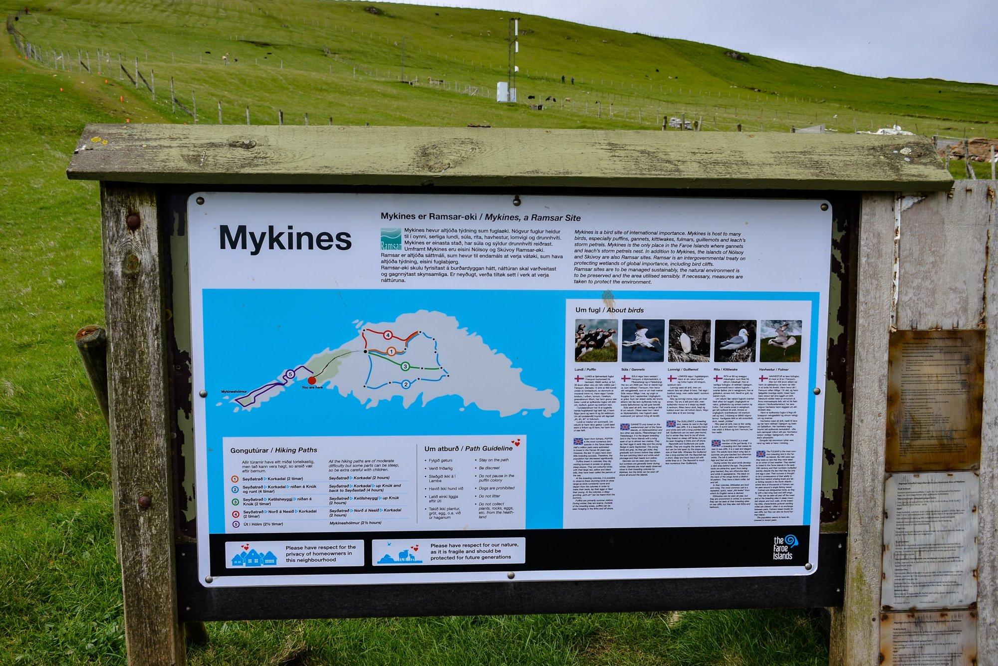 Szlak na Mykines