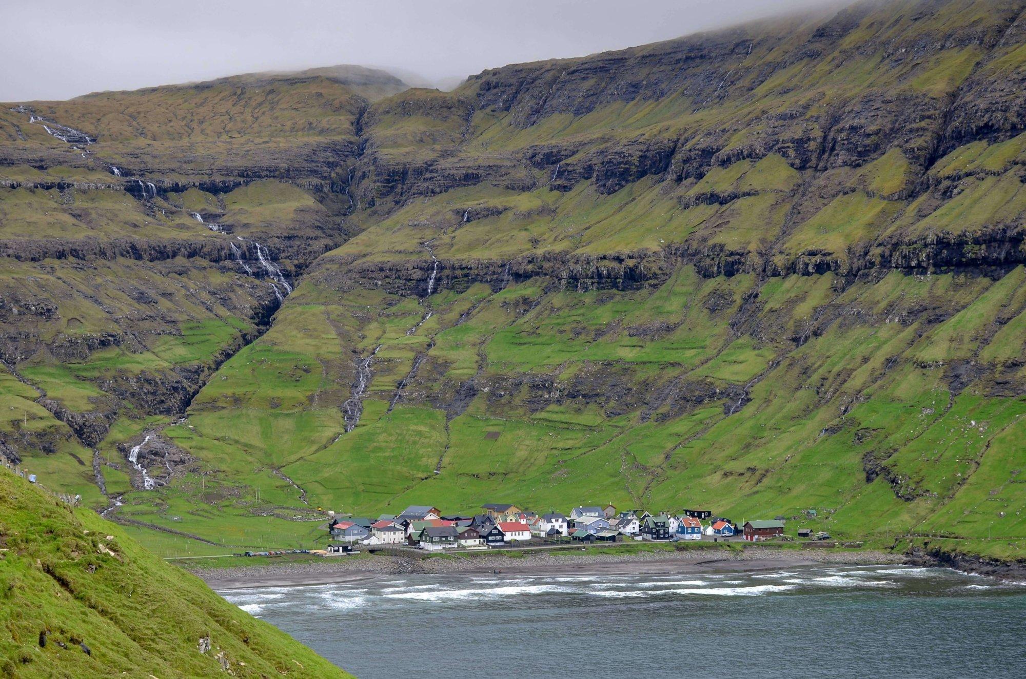 Widok na zatokę Tjørnuvik